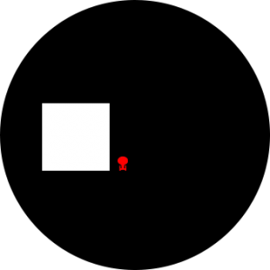 Todesstern (schwarz), Borg-Kubus (Weiß), USS Enterprise NCC1701D (Rot)